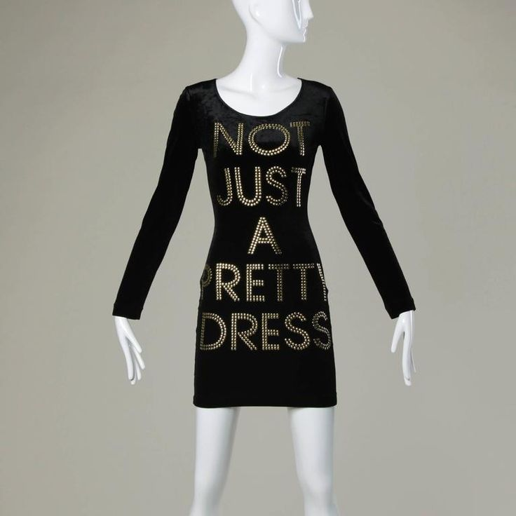 "Moschino ""NOT JUST A PRETTY DRESS"" as worn by La La Anthony 1990"
