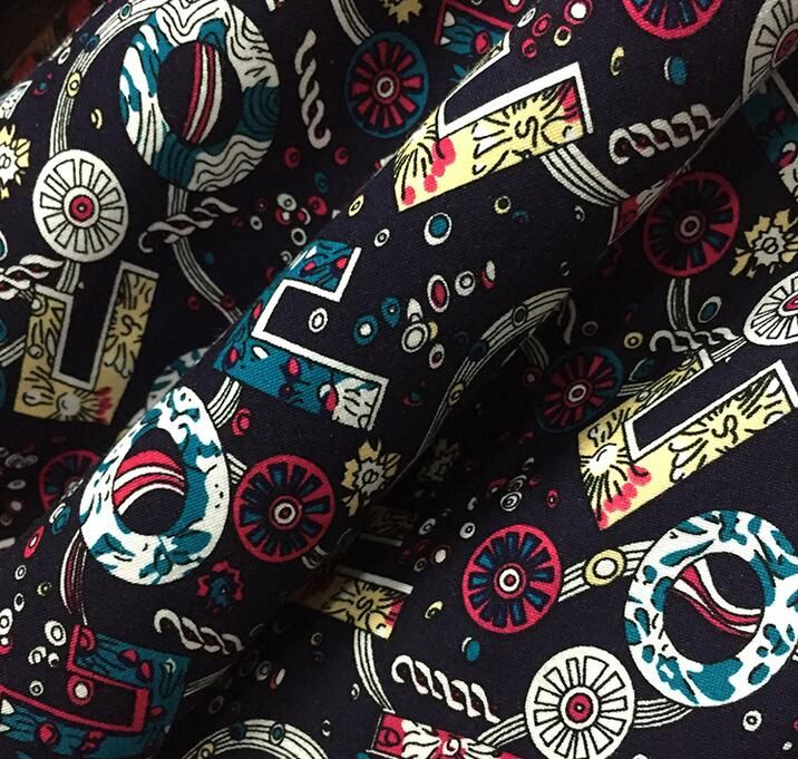Freeshipping ethnic Elastic patchwork cotton fabric, printed cotton knit color clothing fabrics tela por metros algodon B390 #Affiliate