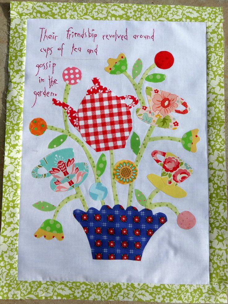 Block B Of Gossip In The Garden...a Very British Quilt. Quilting PatternsQuilting  IdeasSampler ... Part 98