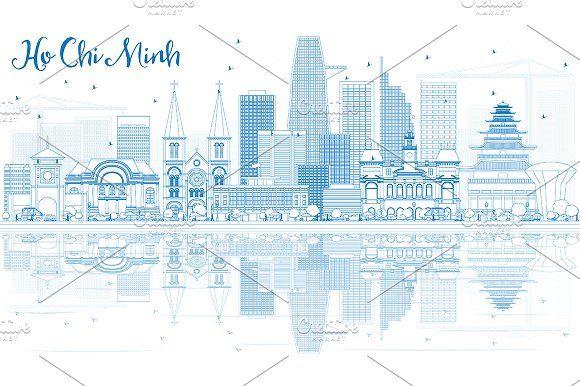 #Outline #Ho #Chi #Minh #Skyline  by Igor Sorokin on @creativemarket