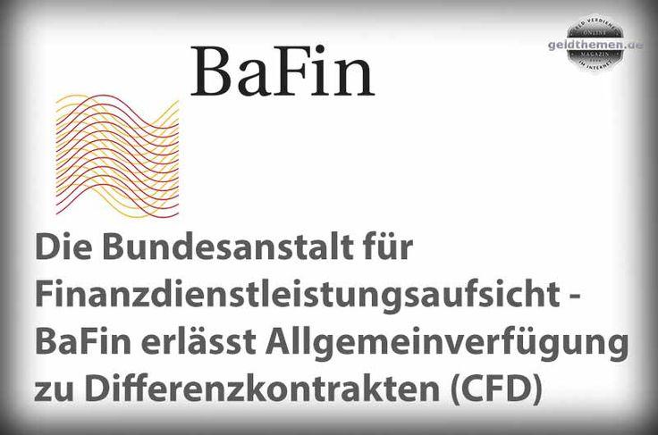CFD Allgemeinverfügung der Bafin zu Differenzkontrakten