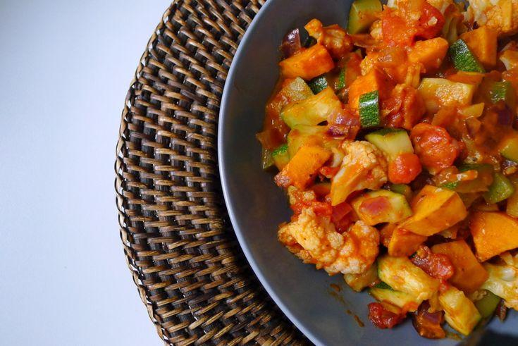 Ethiopische 'wot' groenteschotel recept (vegan) ~ lekker, makkelijk, koolhydraatarm ~ www.con-serveert.nl