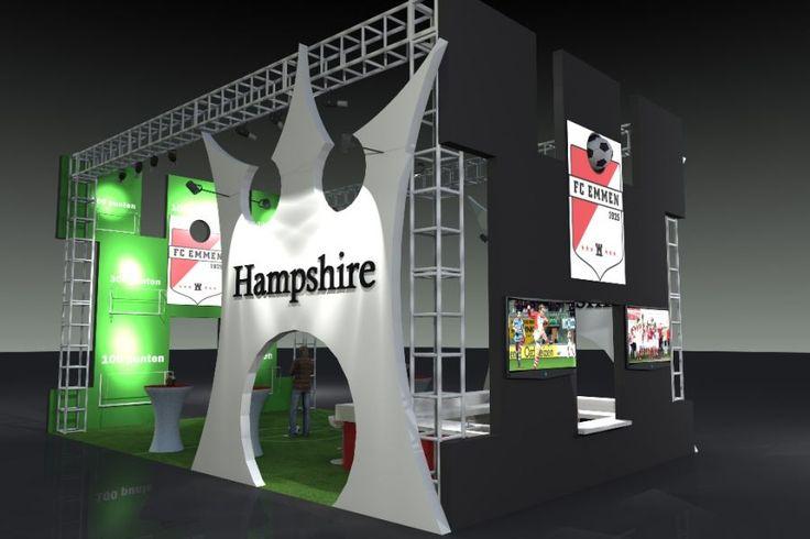 ontwerp beursstand FC Emmen- Hampshire Hotel