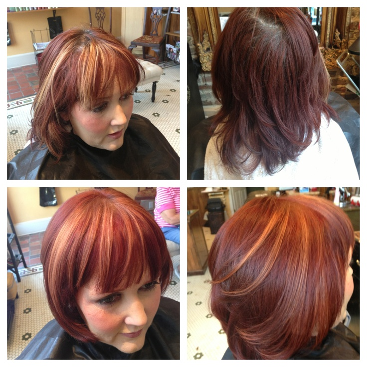 7 best craveable highlights images on pinterest art designs red with copper block highlights by tara at tmacs hair studio pmusecretfo Image collections