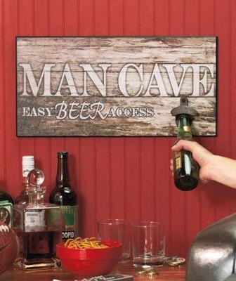 Beer Bottle Soda Pop Opener Home Pub Bar Man Cave Wood Wall Sign | eBay