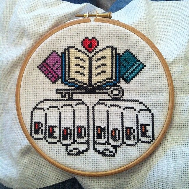 Read More! Cross-stitch
