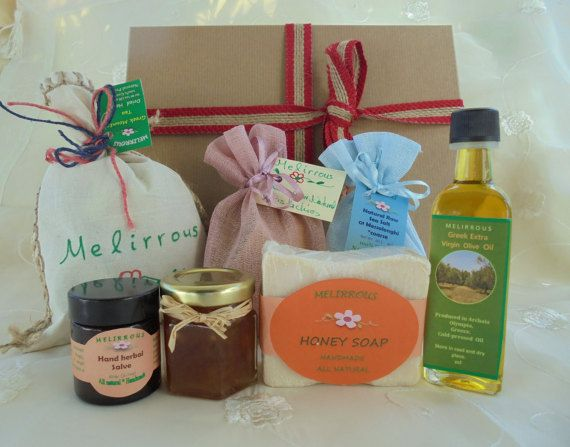 Gift basket Greek Products All Natural Organic by MelirrousBees