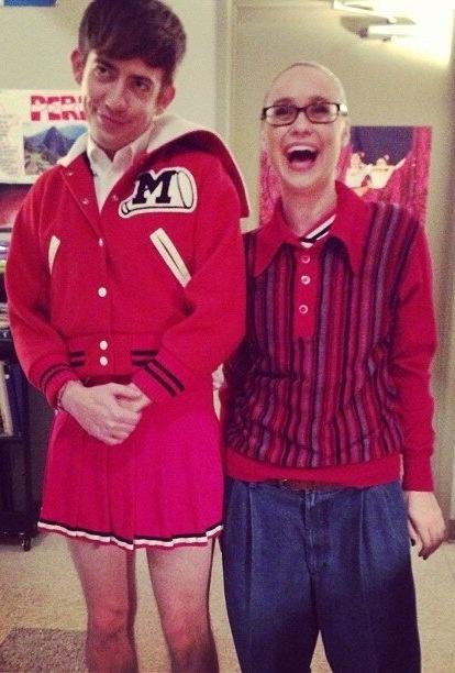 Glee Kevin McHale and Becca Tobin