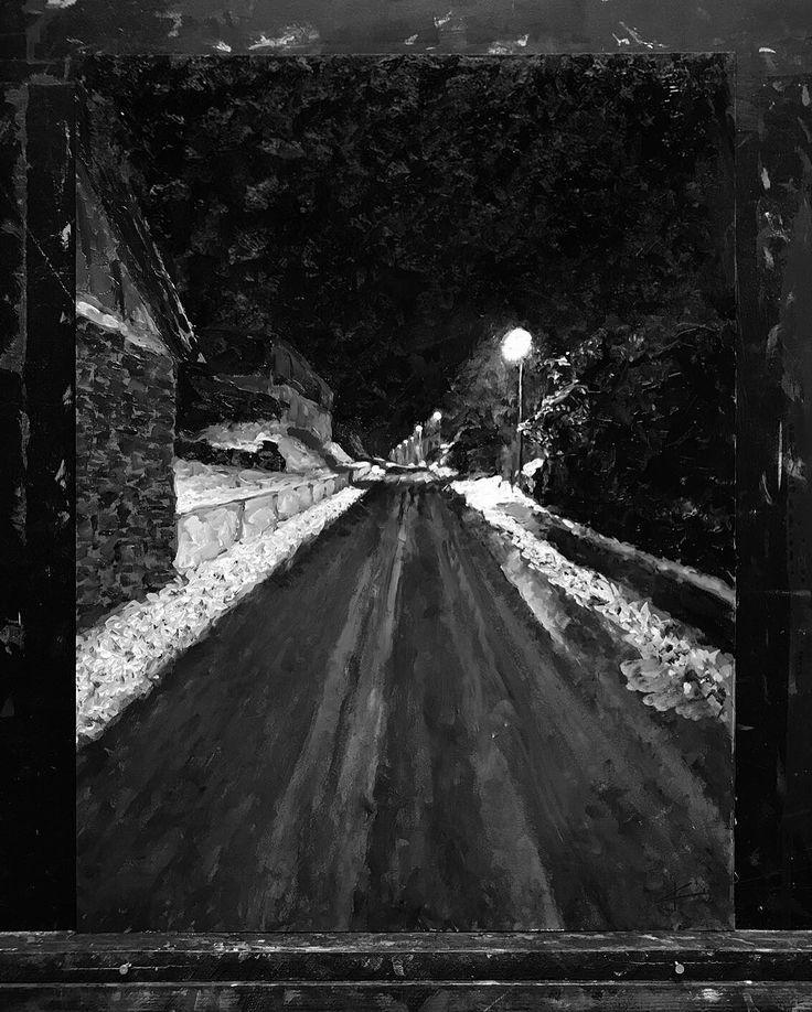 wandering alone at night - 736×918