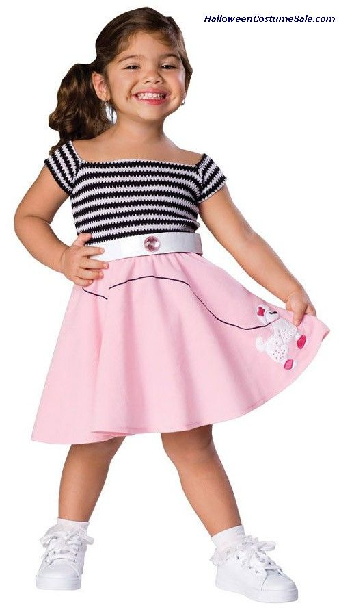 50S GIRL TODDLER COSTUME Poodle Skirt