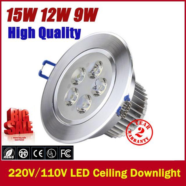 Led teto Downlight 9 W 3 X 3 W 12 W 4 X 3 W 15 W 5 X 3 W luz de parede recesso para baixo lâmpada branco frio ou branco quente