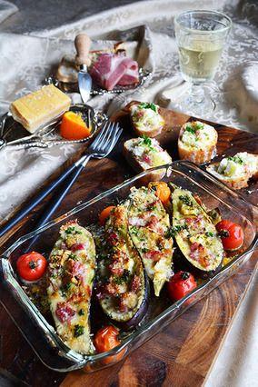 トースターでほっとくだけで完成 チーズとハムのナスボート|レシピブログ