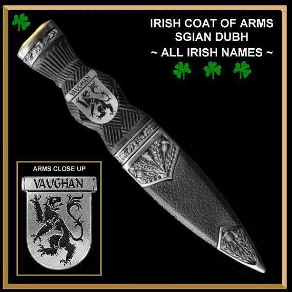 Irish Coat of Arms Sgian Dubh Family Crest ISD01  by celticstudio