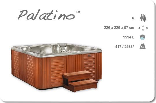 Caldera Palatino Jacuzzi, de buitenkant