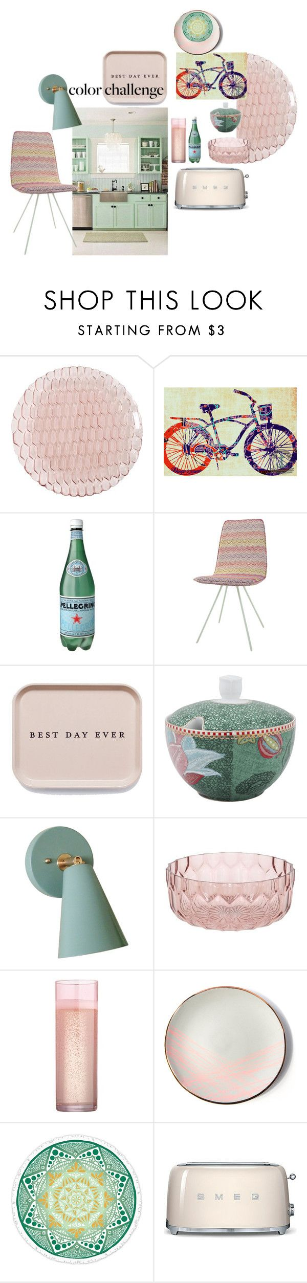"""mdm blush-green by roxariaone"" by roxariaone ❤ liked on Polyvore featuring interior, interiors, interior design, home, home decor, interior decorating, Kartell in Tavola, PiP Studio, Sarah Cihat and Smeg"