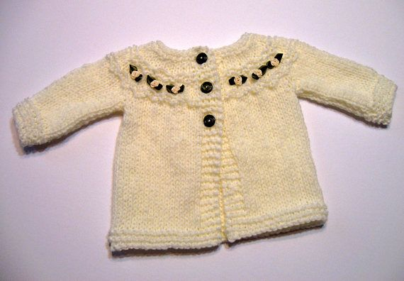 Cream Baby Sweater Knitted Sweater 6 Months Ivory Baby Baby