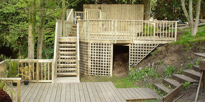 Image result for decking ideas for sloping garden | Sloped ... on Decking Ideas For Sloping Garden id=25416