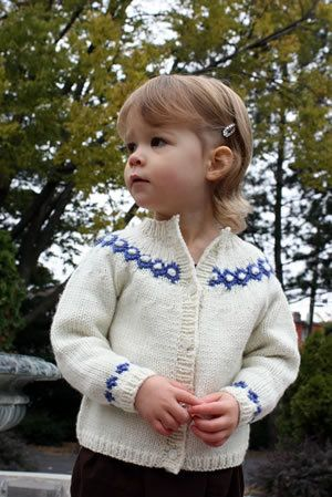 Free Knitting Pattern - Toddler & Children's Clothes: Diamond & Bobble Cardigan