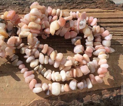 Для украшений ручной работы. Ярмарка Мастеров - ручная работа. Купить Опал розовый нить 40 см каменная крошка бусины для украшений. Handmade.