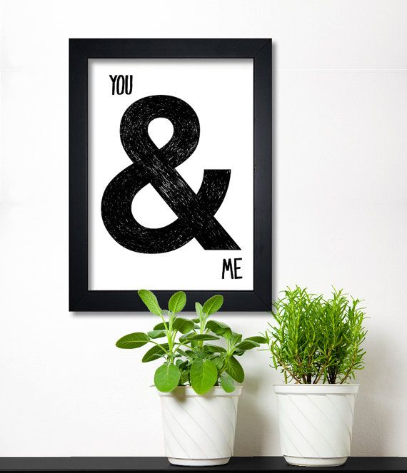 You & Me print from Black & Type Shop