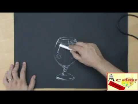 imparare a disegnare con la tecnica del gessetto bianco