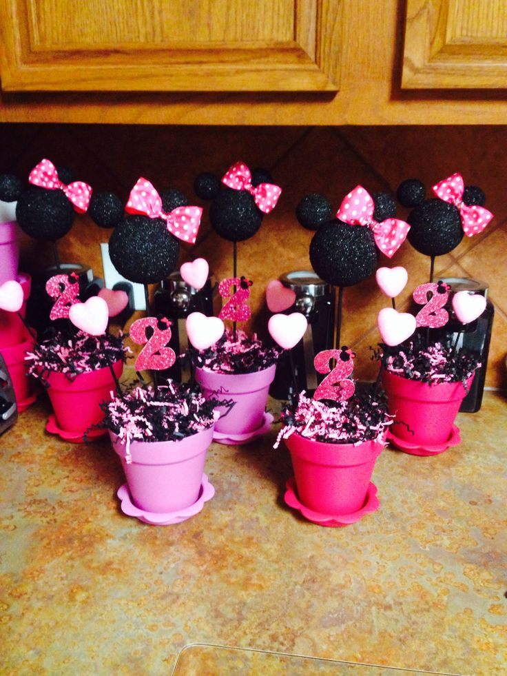 Minnie mouse table decorations minnie mouse birthday for Decoration de table