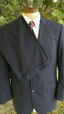 Recent 42R BROOKS BROTHERS Men's Navy Blue Nailhead 2-Btn Wool Suit 34W 29L