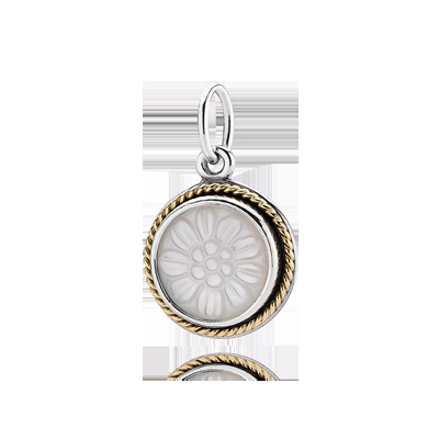 Silver pendant, 14k, mother of pearl