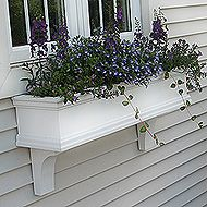 Planters made with PVC, no rot and self watering