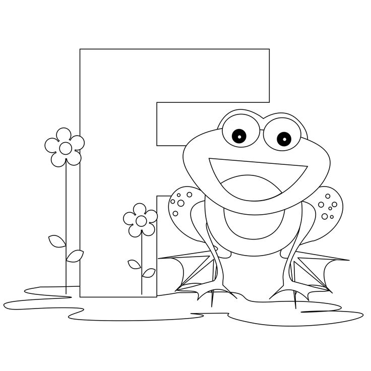 Cute Alphabet Coloring Pages : Best images about f is for frog on pinterest