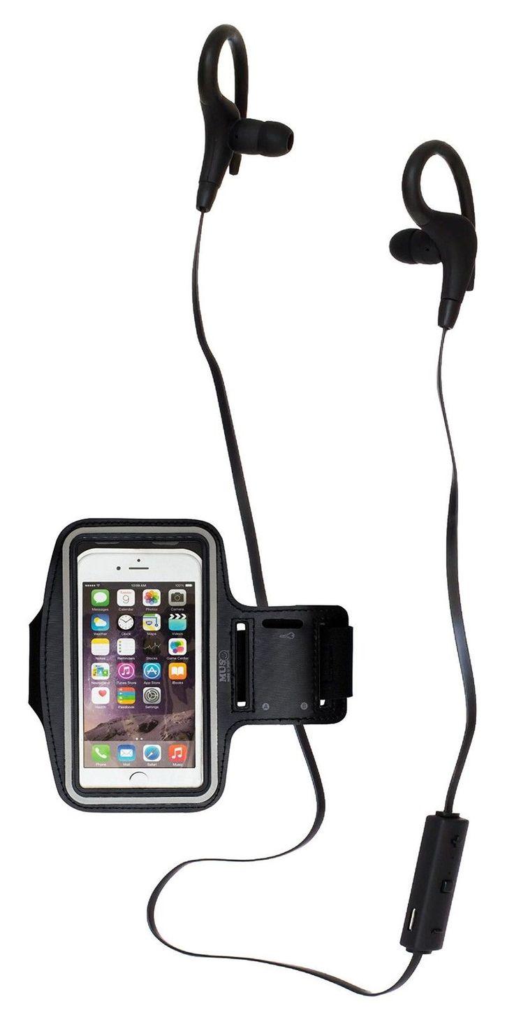 MUS Wireless Bluetooth In-Ear Headphones Digital Noise Cancel + sport armband | eBay