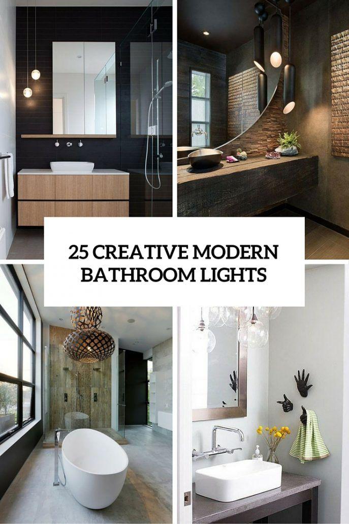 Interior Design Bathroom Lighting Ideas Contemporary 25 Creative Modern Lights You Ll Love Digsdigs Inside 2