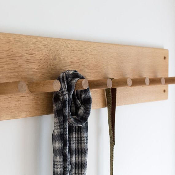 Shaker Style WOODEN COAT PEG RACK SANDED OR HAND WAXED choice of sizes