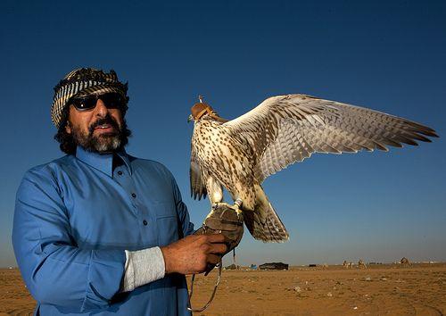 Falcon and Master. Saudi Arabia. Eric Lafforgue.
