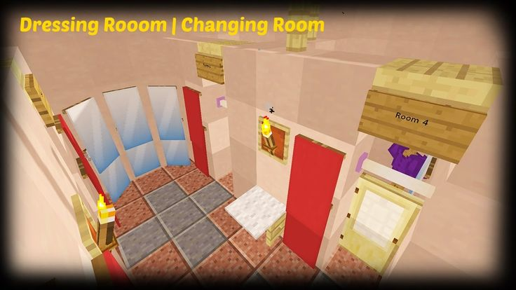 Minecraft – How To Make A Clothes Store Dressing Room | Changing Room