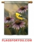 Coneflower & Goldfinch House Flag - 2 left