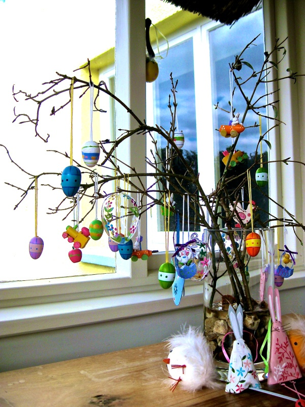 The Easter Tree is a family tradition here in darkest Devon.