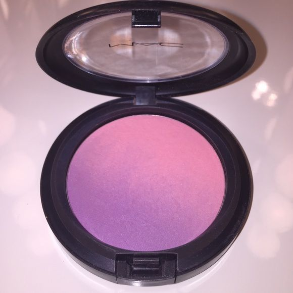 """limited edition MAC blush A stunning ombré MAC blush. Transitions from light baby purple to pink! Named """"azalea blossom""""  MAC Cosmetics Makeup Blush"""