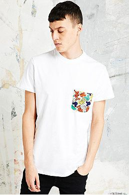 Eleven Paris - T-shirt Mickey blanc avec poche Urban Outfitters