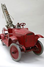 Buddy L fire truck...circa 1926. Learn about your collectibles, antiques, valuables, and vintage items from licensed appraisers, auctioneers, and experts at Blue Vault. Visit: http://www.bluevaultsecure.com/roadshow-events.php