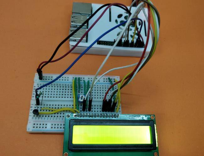 Circuit Hardware for Interfacing DS18B20 Temperature Sensor