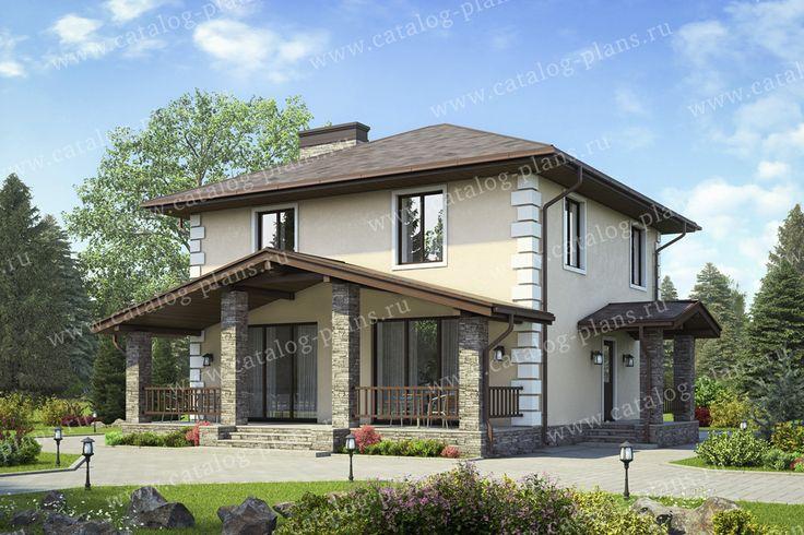 Проект жилой дом #40-04B материал - газобетон, стиль европейский