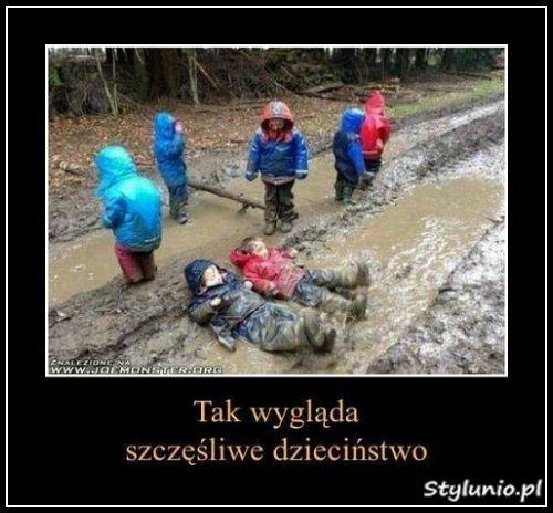 Tak wygląda szczęśliwe dzieciństwo. :)