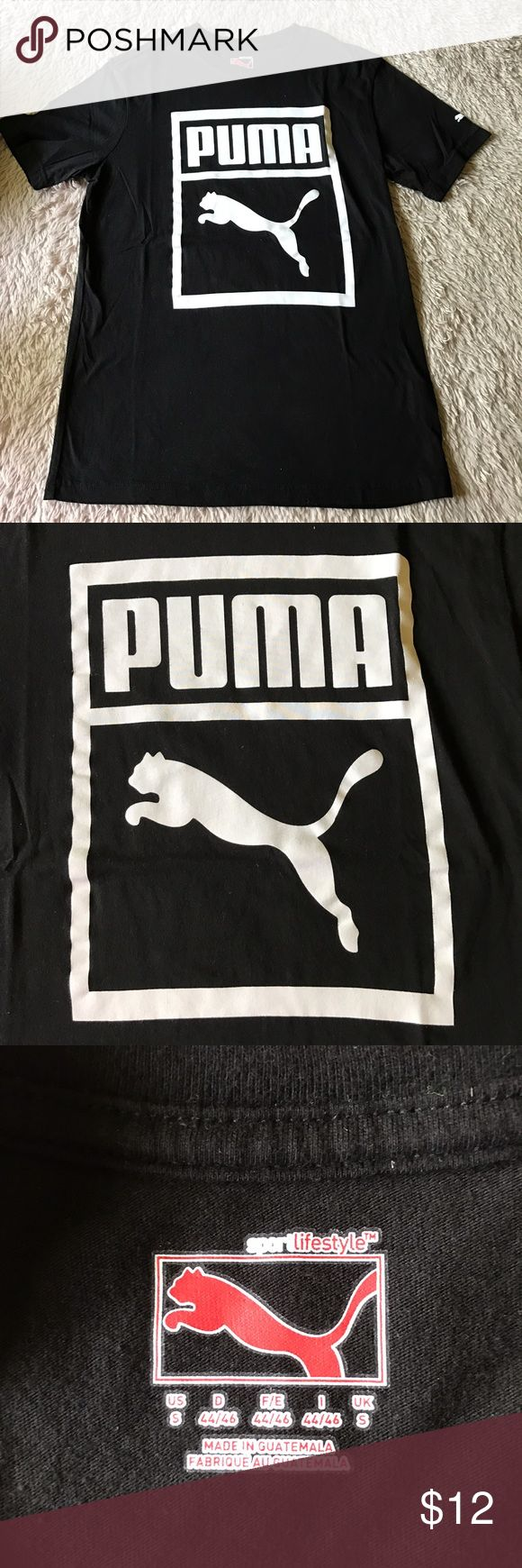 Men's Puma t-shirt Men's Puma t-shirt in excellent used condition. Size small. Black shirt with white Puma logo Puma Shirts Tees - Short Sleeve