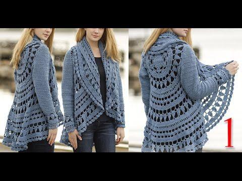 كروشيه كارديجان صيفي و شتوي ج1 Crochet cardigan for winter and summer part 1 - YouTube