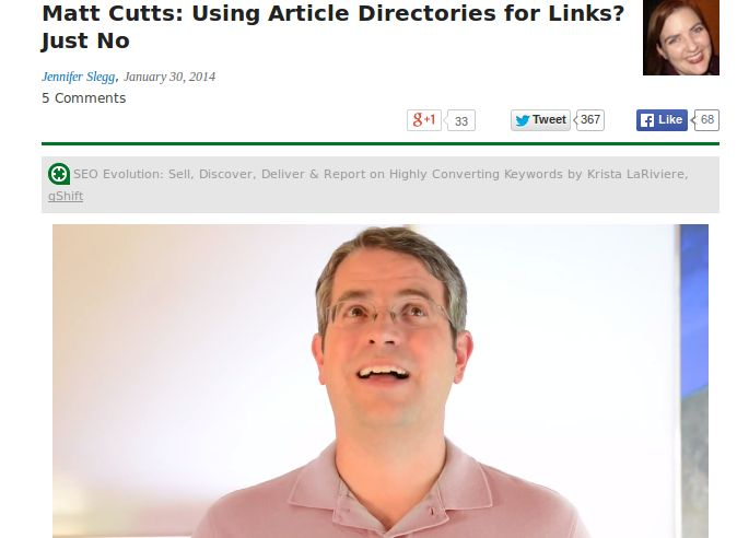 Using Article Directories for Links?