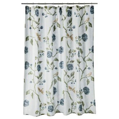 Threshold Bird Floral Shower Curtain Bathroom Makeover Pinterest Floral Floral Shower