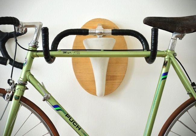DIY Bike Rack from Repurposed Handlebars