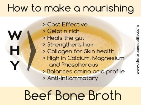 Back to Basics: How to make a nourishing Beef Bone Broth on The Urban Eco Life at http://www.theurbanecolife.com/back-basics-make-nourishing-beef-bone-broth/