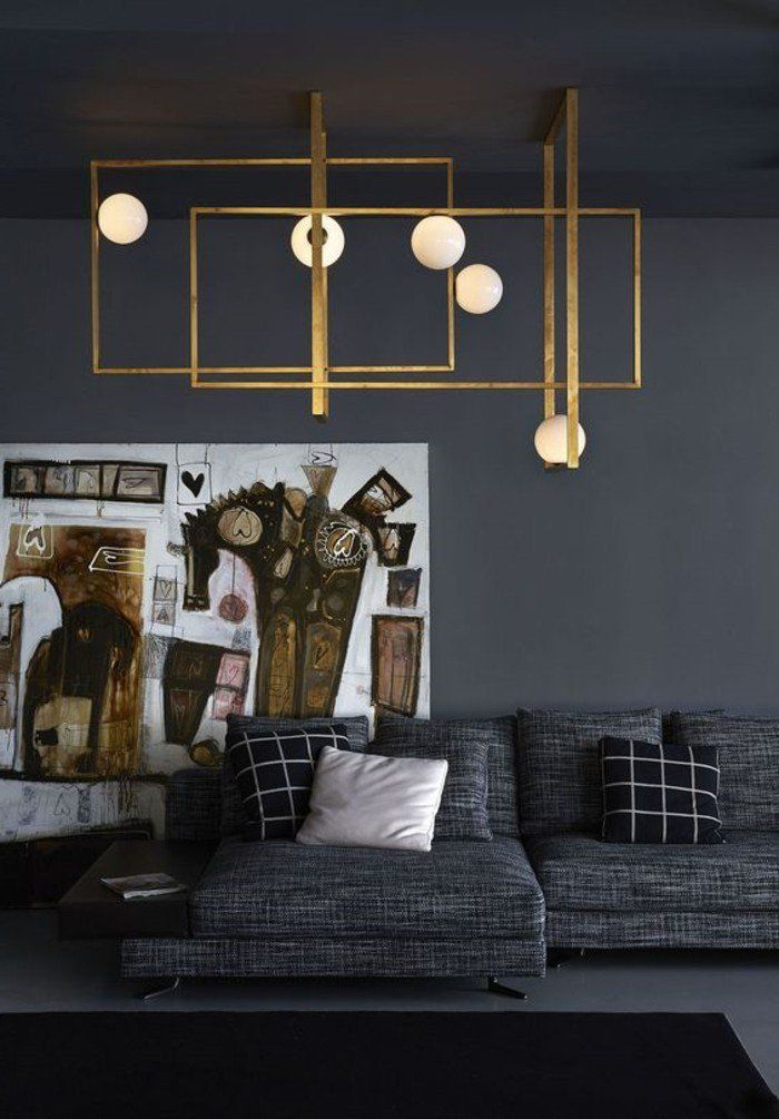Lustre Gris Pas Cher Stunning Suspension Luminaire With